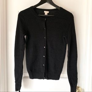 J. Crew black cashmere cardigan